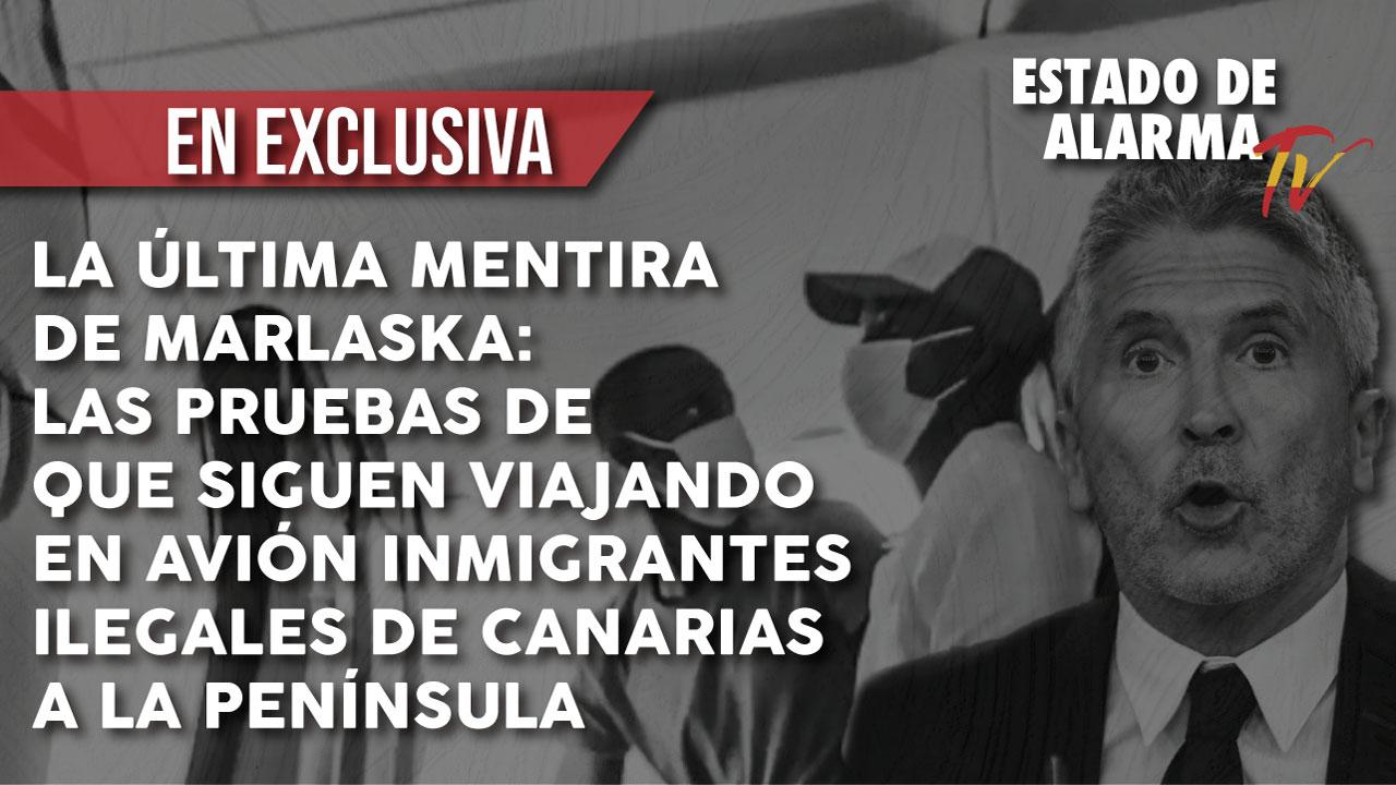 La última mentira de Marlaska: Pillamos a más inmigrantes ilegales viajando a Málaga en avión desde Canarias