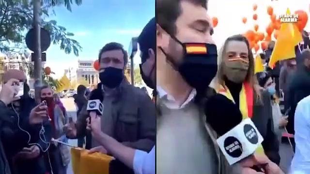 Iván Espinosa en la MANIFESTACIÓN contra la ley CELAÁ