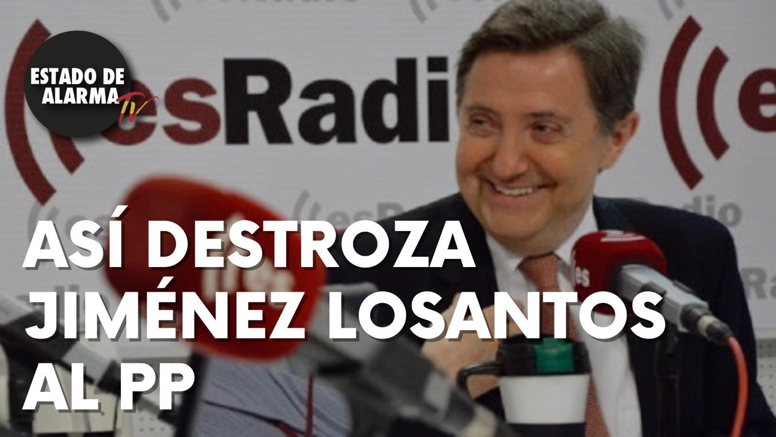 Así DESTROZA Jiménez LOSANTOS al PP