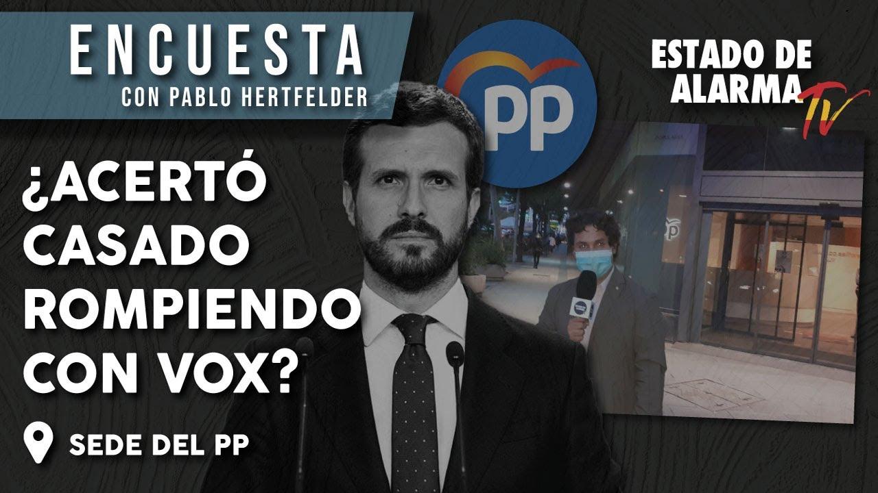 ENCUESTA: ¿Acertó PABLO CASADO rompiendo con VOX?