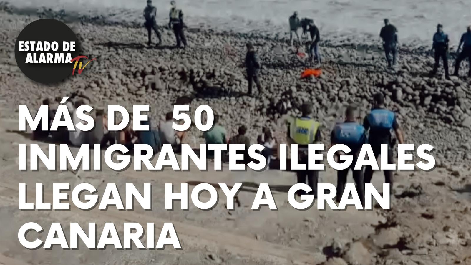 Más de cincuenta inmigrantes ilegales llegan hoy a Gran Canaria