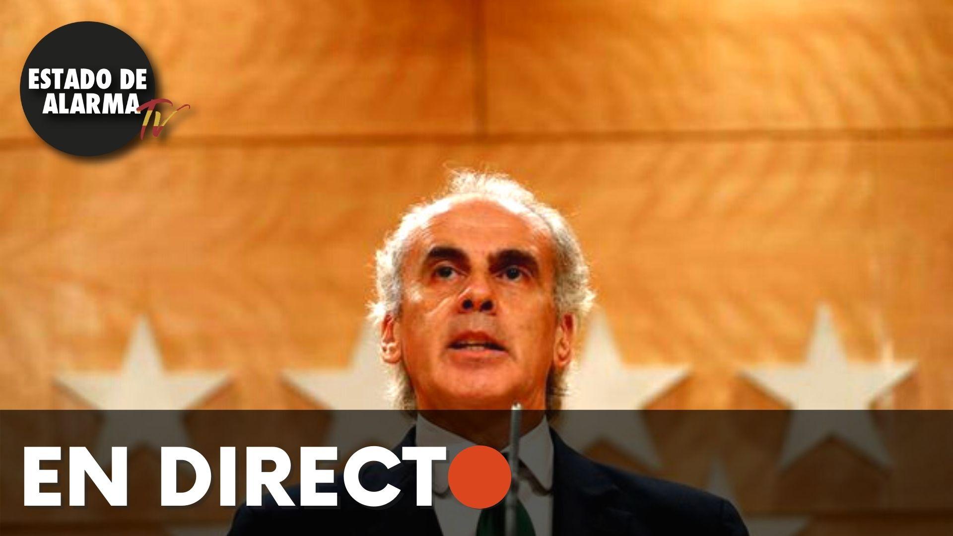 EN DIRECTO | Ruiz Escudero actualiza la información sobre la situación epidemiológica en Madrid
