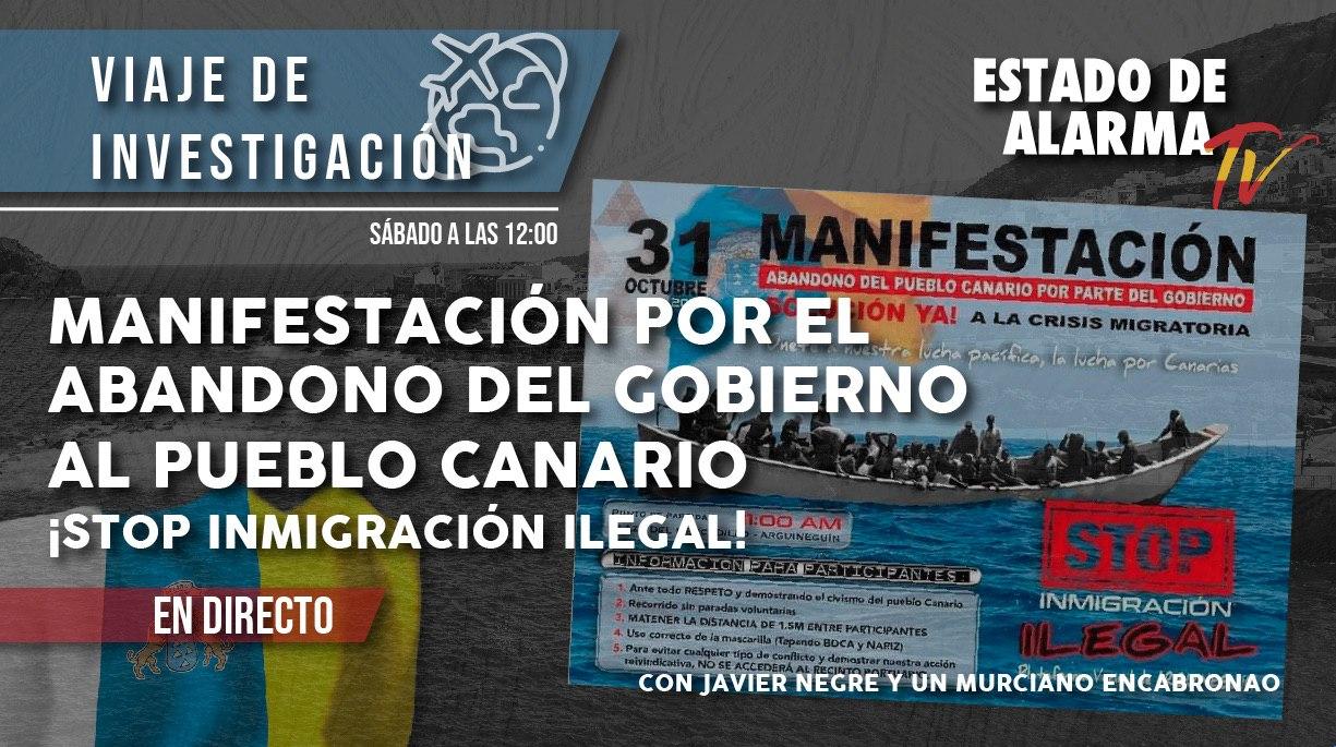 DIRECTO Manifestación contra la inmigración ilegal en Arguineguín con Un Murciano Encabronao y Negre