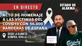 EN DIRECTO desde SEVILLA: BANDERAS en honor a los damnificados por COVID junto al Guadalquivir