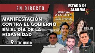 EN DIRECTO: MANIFESTACIÓN contra el GOBIERNO en el DÍA DE LA HISPANIDAD, 12 OCTUBRE