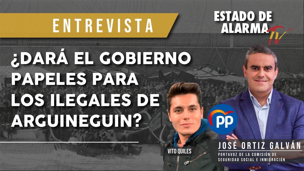 ¿DARÁ el GOBIERNO PAPELES para los ILEGALES de ARGUINEGUÍN? Entrevista a José Ortiz Galván
