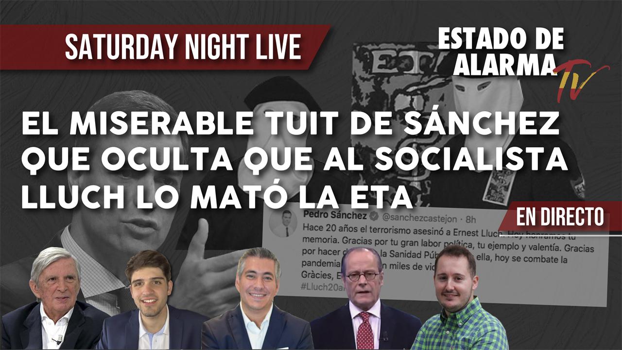El MISERABLE TUIT de SÁNCHEZ que OCULTA que al SOCIALISTA LLUCH lo MATÓ la ETA