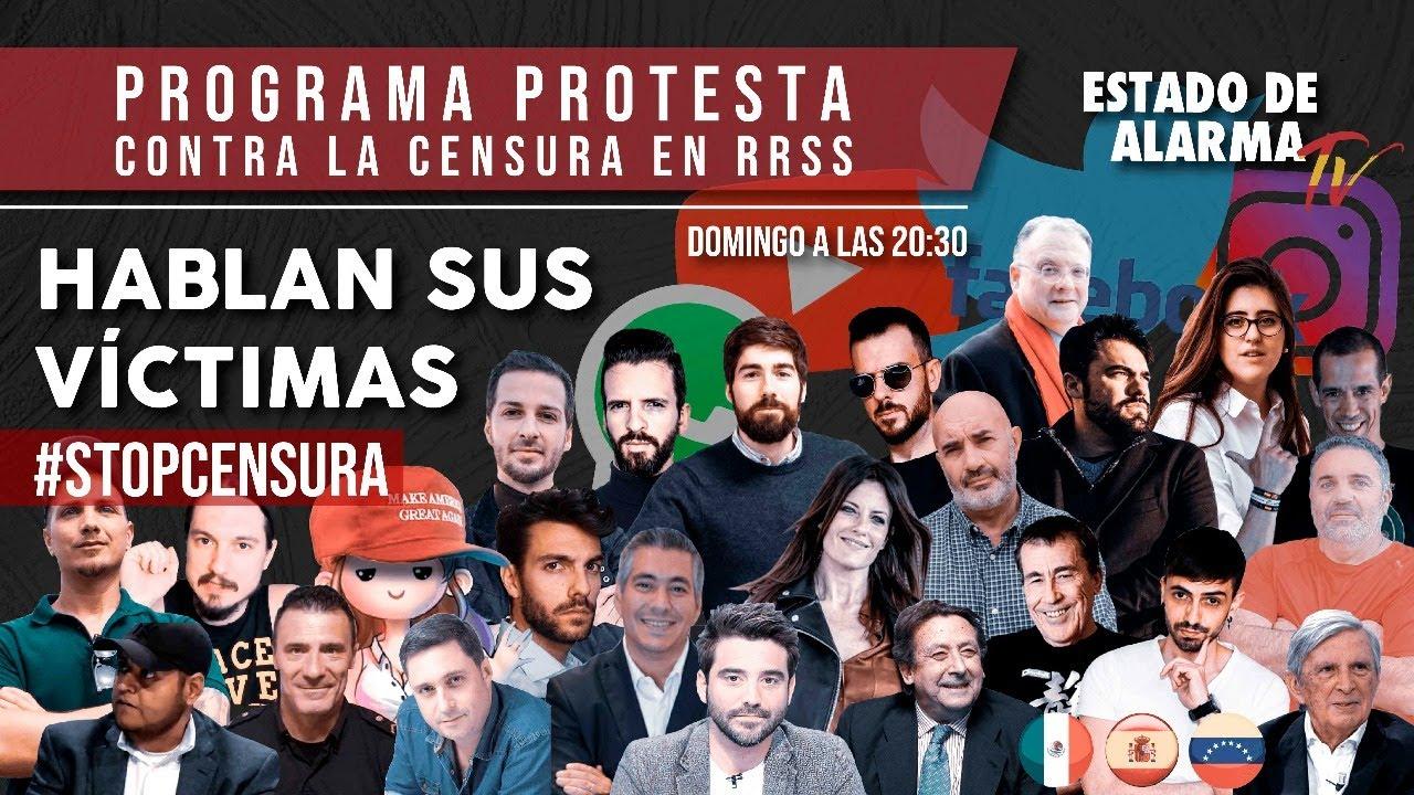 EN DIRECTO: ÚNETE a la PROTESTA contra la CENSURA en REDES SOCIALES, HABLAN sus VÍCTIMAS